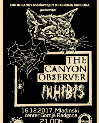 KONCERT: THE CANYON OBSERVER IN INHIBIS